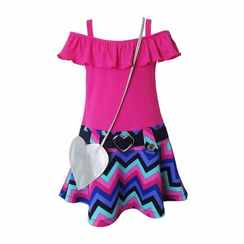 Lilt Short Sleeve Dress Set - Preschool Girls