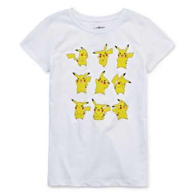 jcpenney.com | Pokemon Girls Short Sleeve Pokemon T-Shirt-Big Kid