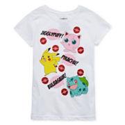 Pokemon Girls Short Sleeve Pokemon T-Shirt-Big Kid