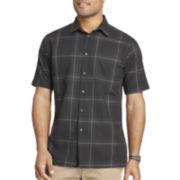 Van Heusen® Short-Sleeve Giant Windowpane Woven Shirt