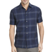 Van Heusen® Short-Sleeve Giant Windowpane Woven Shirt