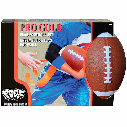 Poof Pro Gold Flag Football Set 9-pc. Combo Game Set