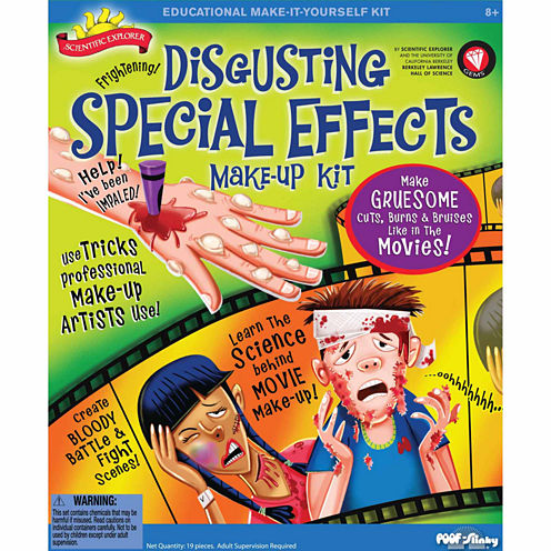 Scientific Explorer Disgusting Special Effects Makeup Kit 18-pc. Discovery Toy