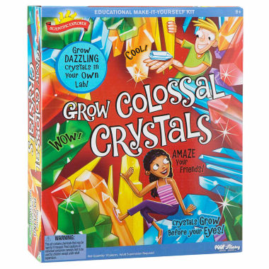 jcpenney.com | Scientific Explorer Grow Colossal Crystals Kit 10-pc. Discovery Toy