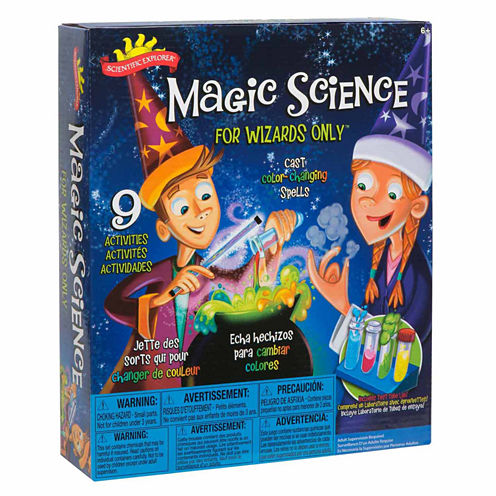 Scientific Explorer Magic Science For Wizards Only Kit 15-pc. Discovery Toy