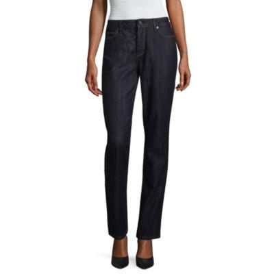 cf8e128216f Liz Claiborne Classic Fit Straight Jeans JCPenney