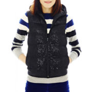 Joe Fresh™ Hooded Sequin Vest