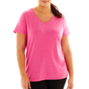 Xersion™ Stretch V-Neck Tee - Plus