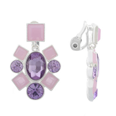 jcpenney.com | Monet Jewelry Purple Clip On Earrings