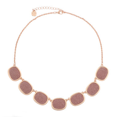 jcpenney.com | Monet Jewelry Womens Pink And Rose Goldtone Collar Necklace