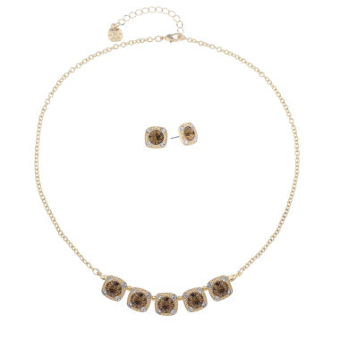 jcpenney.com | Monet Jewelry Womens 2-pc. Brown Goldtone Delicate Necklace Set