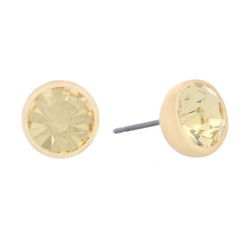 Monet Jewelry Yellow Stud Earrings