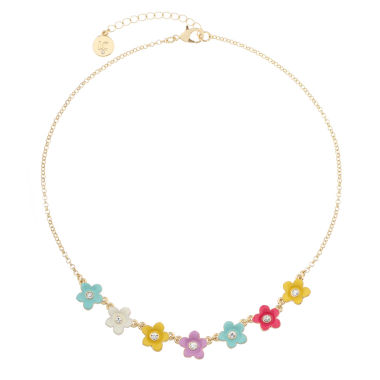 jcpenney.com | Liz Claiborne Womens Flower Frontal Collar Multi Goldtone