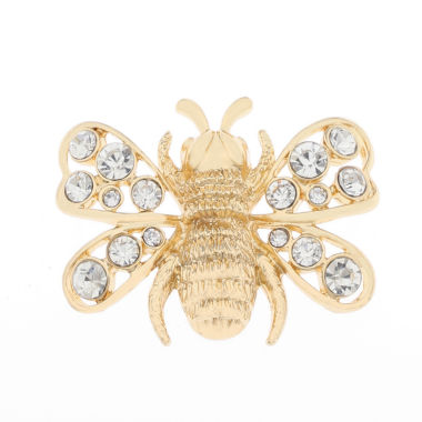 jcpenney.com | Liz Claiborne Bee Pin Clear And Goldtone