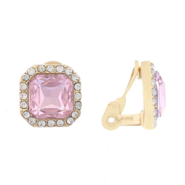 jcpenney.com | Monet Pink And Goldtone Clip Earring