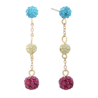 jcpenney.com | Liz Claiborne Multi Color Drop Earrings
