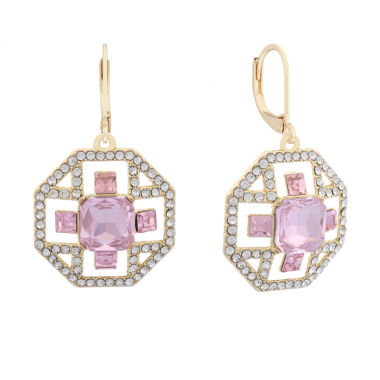 jcpenney.com | Monet Pink And Goldtone Drama Earring