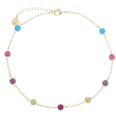jcpenney.com | Liz Claiborne Ball Collar Necklace Multi Goldtone