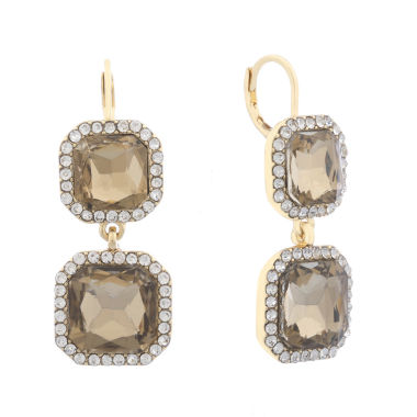 jcpenney.com | Monet Brown And Goldtone Double Drop Earring