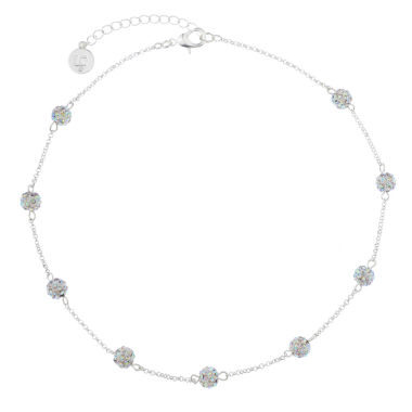 jcpenney.com | Liz Claiborne Ball Collar Necklace Clear Silvertone