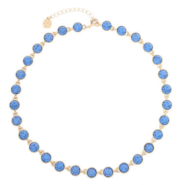 jcpenney.com | Monet Jewelry Womens Blue And Goldtone Collar Necklace