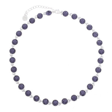 jcpenney.com | Monet Jewelry Womens Purple And Silvertone Collar Necklace