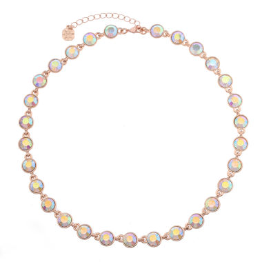 jcpenney.com | Monet Jewelry Womens Clear And Rose Goldtone Collar Necklace