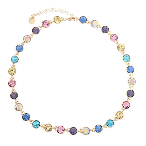 Monet Jewelry Womens Multi And Goldtone Collar Necklace