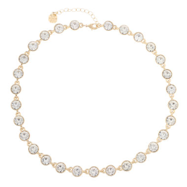 jcpenney.com | Monet Jewelry Womens Clear And Goldtone Collar Necklace