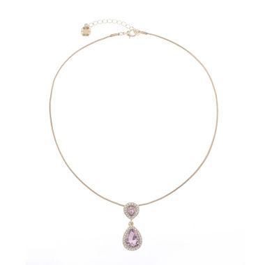 jcpenney.com | Monet Jewelry Pink And Goldtone Pendant Necklace