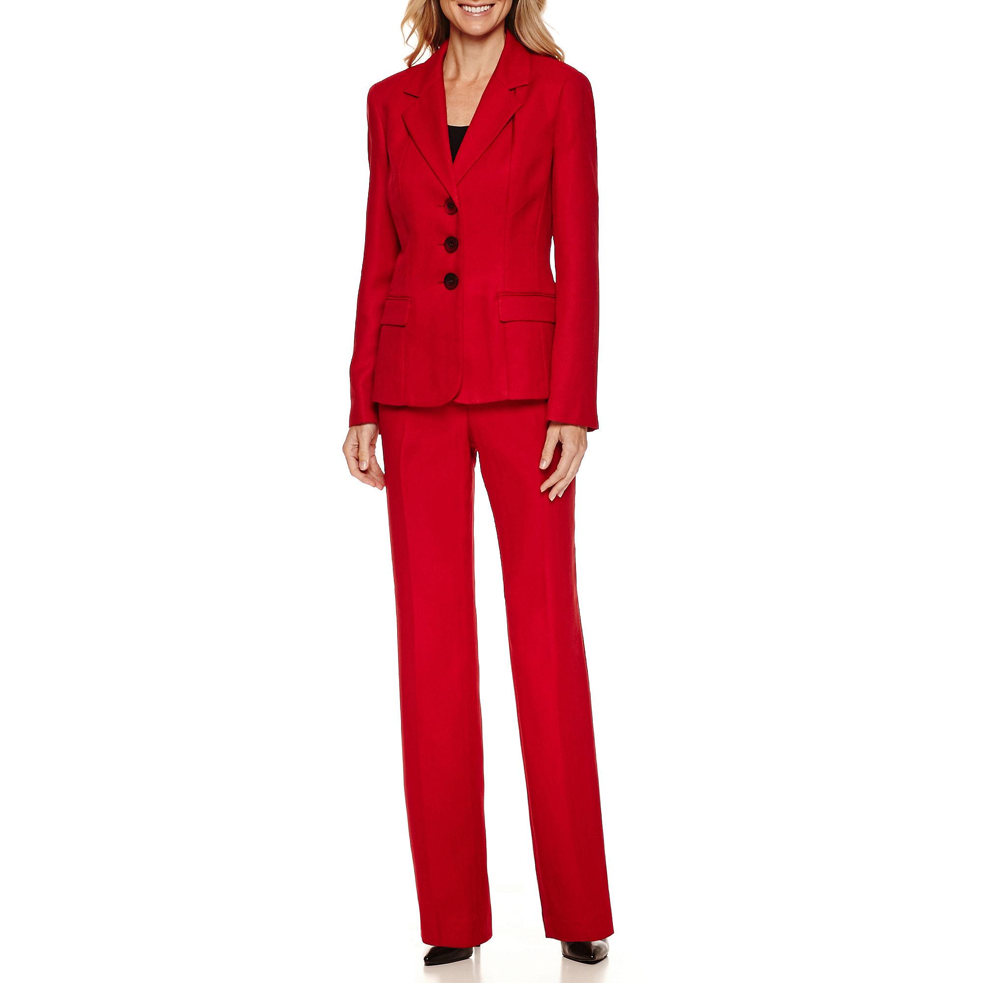 Le Suit Long Sleeve 3-Button Pant Suit plus size,  plus size fashion plus size appare