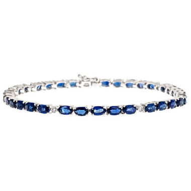jcpenney.com | LIMITED QUANTITIES! 1/10 CT. T.W. Blue Sapphire 14K Gold Tennis Bracelet