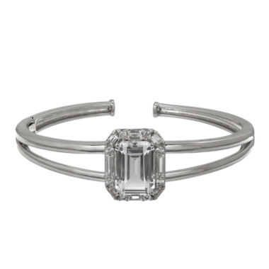 jcpenney.com | Womens White Sapphire Sterling Silver Bangle Bracelet