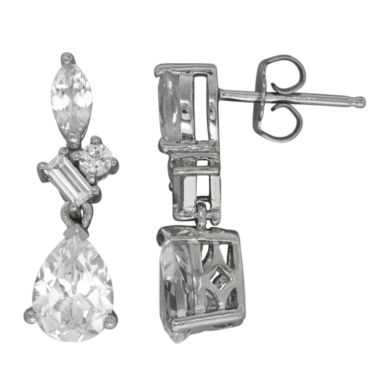 jcpenney.com | White Sapphire Sterling Silver Drop Earrings