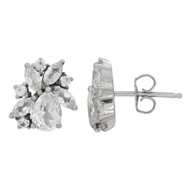 jcpenney.com | Pear White Sapphire Sterling Silver Stud Earrings