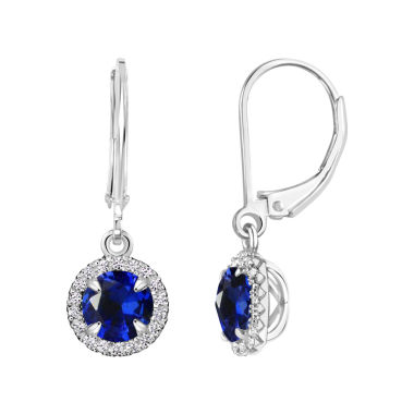 jcpenney.com | Blue Sapphire Sterling Silver Drop Earrings