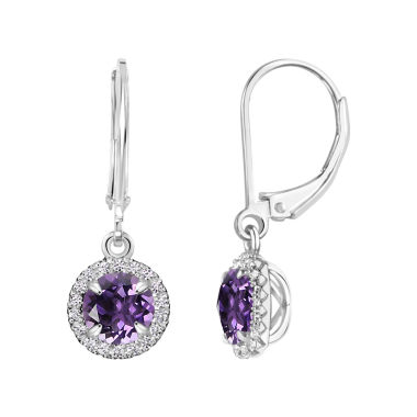 jcpenney.com | Purple Amethyst Sterling Silver Drop Earrings