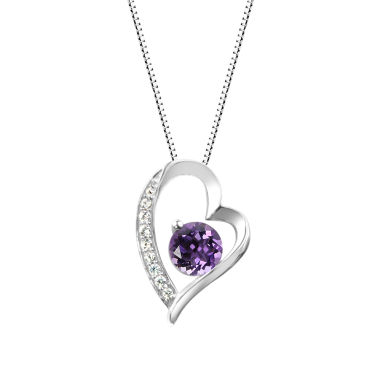 jcpenney.com | Womens Purple Amethyst Sterling Silver Pendant Necklace