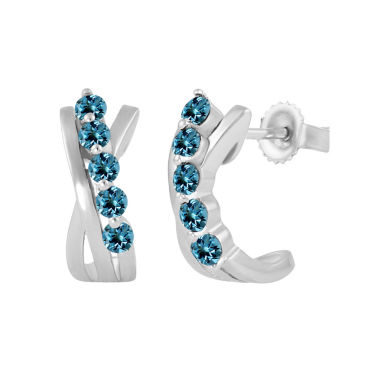 jcpenney.com | Blue Topaz Sterling Silver Hoop Earrings