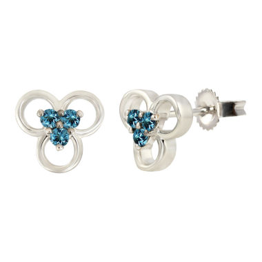 jcpenney.com | Round Blue Topaz Sterling Silver Stud Earrings