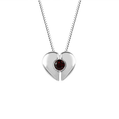 jcpenney.com | Womens Red Garnet Sterling Silver Pendant Necklace