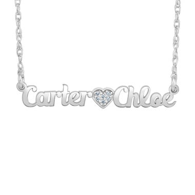 jcpenney.com | Personalized Diamond Accent Name Necklace