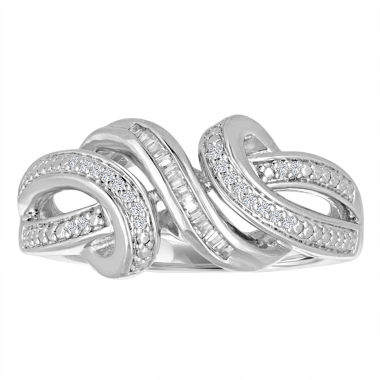 jcpenney.com | Womens White Diamond Sterling Silver Cocktail Ring