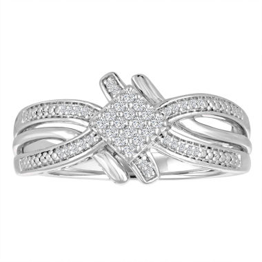 jcpenney.com | Womens 1/10 CT. T.W. White Diamond Sterling Silver Cocktail Ring
