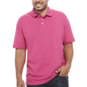 The Foundry Supply Co. Short Sleeve Solid Pique Polo Shirt