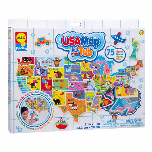Alex Toys Rub A Dub Usa Map In The Tub Discovery Toy