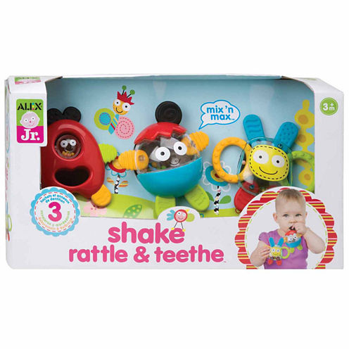 ALEX TOYS Alex Jr Shake Rattle And Teethe 3-pc. Interactive Toy - Unisex