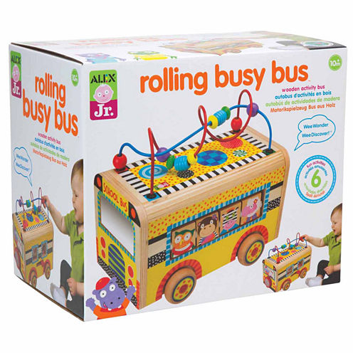 Alex Toys Alex Jr Rolling Busy Bus Interactive Toy