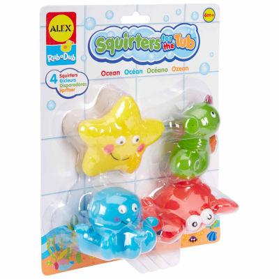 alex toys rub a dub bath squirters ocean 4 pc toy playset unisex jcpenney. Black Bedroom Furniture Sets. Home Design Ideas