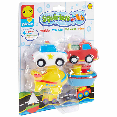 Alex Toys Rub A Dub Bath Squirters Vehicles 4-pc. Toy Playset